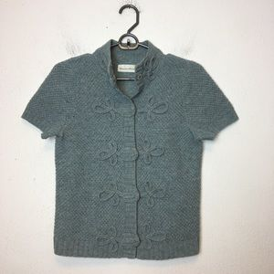 Anthro Charlie and Robin Short Sleeve Wool Sweater